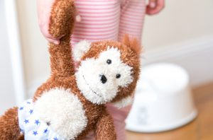 Potty Monkey doll is a fun help for kids when potty training