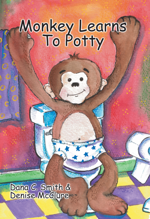 Monkey Learns to Potty board book, a simple store to introduce children to the concept of using the toilet.