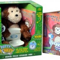 Potty Monkey package and book.