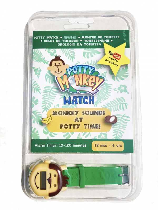 Potty Monkey Watch packaging