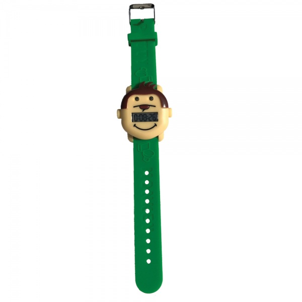 Potty Monkey Watch showing full wrist band