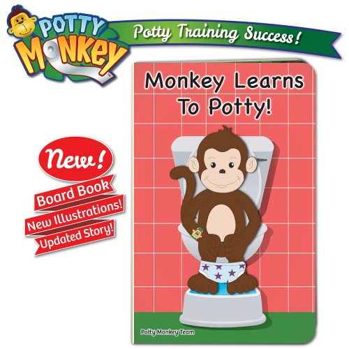 Potty Monkey Monkey Learns To Potty board book - 2019 edition with new illustrations and updated story.