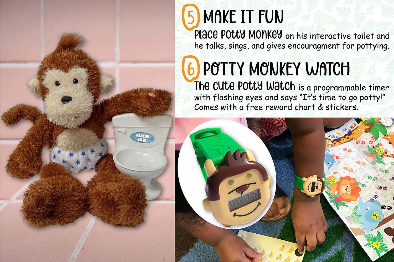 Potty Monkey system procedures